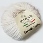 Příze Jeans Etrofil Porcelánová Bílá