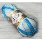 Příze Alize Diva batik Modrobílá