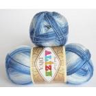 Příze Alize DIva batik Modrofialový melír