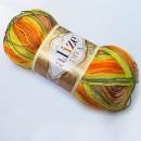 Příze Alize Diva batik Zelenooranžový melír