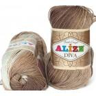 Příze Alize Diva batik Hnědý melír