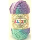 Příze Alize Forever Batik fialkovo-mint