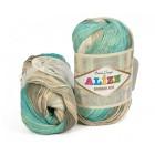 Příze Alize Bamboo Fine Batik mint - béžová