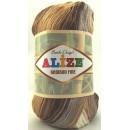 Příze Alize Bamboo Fine Batik Hnědý melír