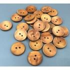 Dřevěný knoflík Přírodní 25mm