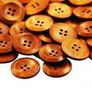 Dřevěný knoflík Hnědý se zvýšeným okrajem
