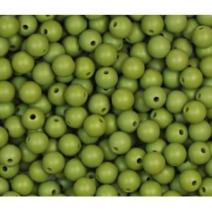 Silikonový Korálek Olivová 10 mm