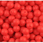 Silikonový Korálek Červená 12 mm