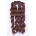 Kudrnaté vlasy na panenky Kaštanová