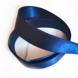 Saténová Stuha 20 mm Námořnická Modrá