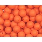 Silikonový Korálek Oranžový 15 mm