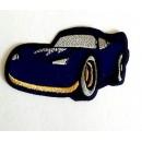 Nažehlovací Aplikace Auto Modré /textilní/