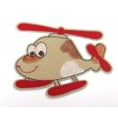 Nažehlovací aplikace Vrtulník Krémový