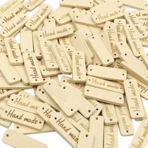 Dřevěná Cedulka Handmade Obdélník Krémová