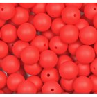 Silikonový Korálek Červený 15 mm