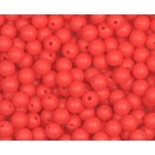 Silikonový Korálek Červený 10 mm