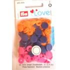 Patentky Color Snaps Růžový Mix