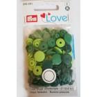 Patentky Color Snaps Zelený Mix
