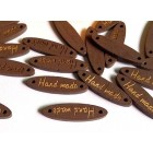 Dřevěná Cedulka Handmade Oválná Hnědá