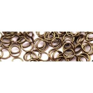 Kovový kroužek Staromosaz 8 mm / 10 ks