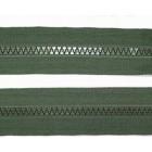 Zip Kostěný Dělitelný 60 cm Khaki