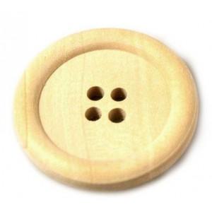 Dřevěný knoflík Přírodní 30,48 mm
