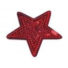 Nažehlovací Aplikace Hvězda Červená