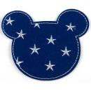 Velká Nažehlovací Aplikace Modrá s Hvězdami