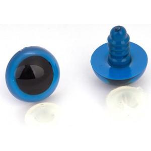 Bezpečnostní očka 15mm Modrá s panenkou