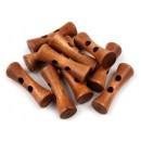 Dřevěný knoflík Tvarovaná Olivka Hnědá 10 Ks
