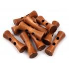 Dřevěný knoflík Tvarovaná Olivka Hnědá
