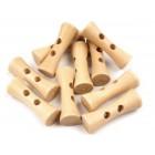 Dřevěný knoflík Tvarovaná Olivka Přírodní