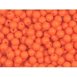 Silikonový Korálek Oranžový 10 mm
