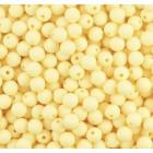 Silikonový Korálek Pastelová Žlutá 9 mm