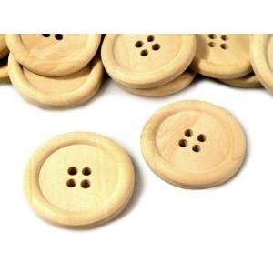 Dřevěný knoflík Přírodní 25 mm