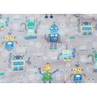 Little Darling Úplet Roboti na šedé 65cm