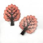 """Dřevěný knoflík """"Strom Sv. růžový"""""""