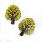 """Dřevěný knoflík """"Strom světle zelený"""""""