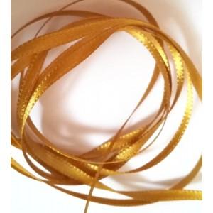 Atlasová stuha 3mm Zlatá