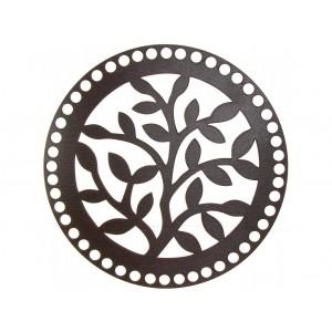 Dřevěné Víko na Košík Wenge  Strom 20 cm