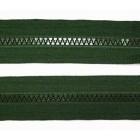 Zip Kostěný Dělitelný 55cm Lahvová Zelená