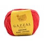 Organic Baby Cotton Červená